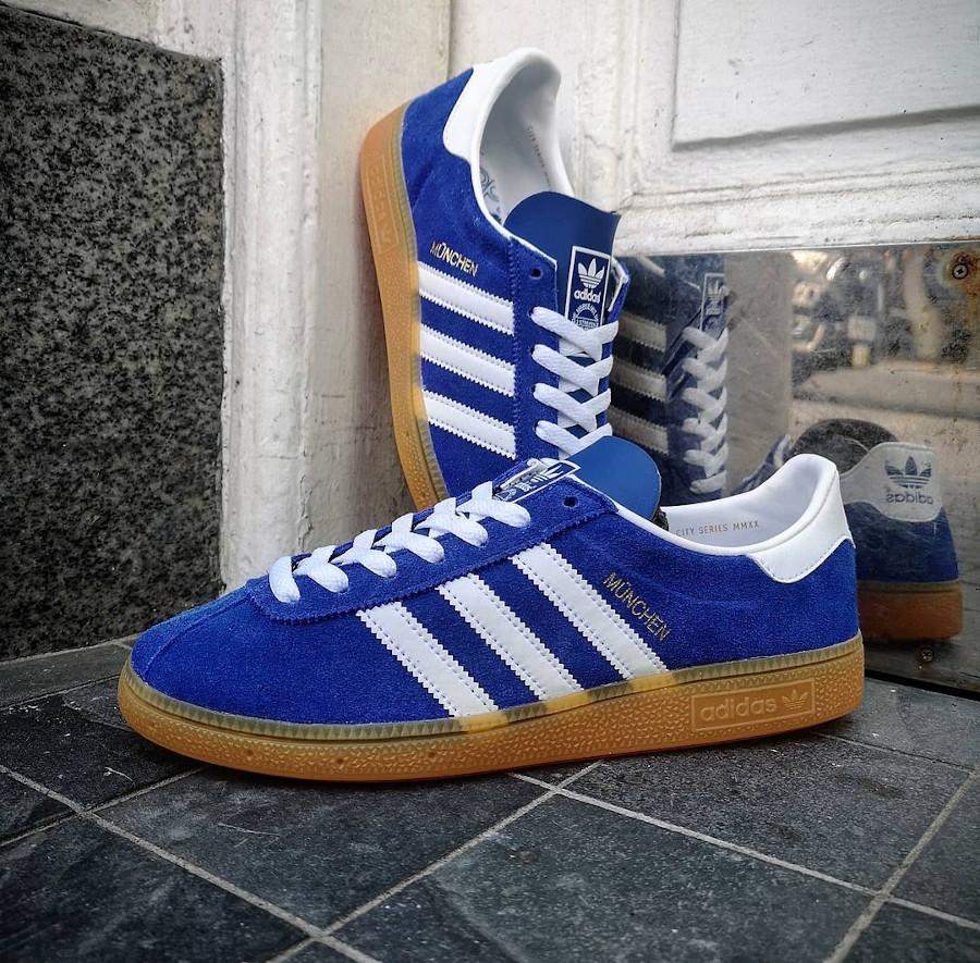 Adidas München '20 en suède bleu violet (4)