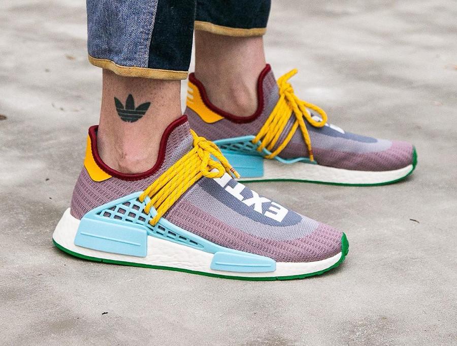 Adidas NMD Human Race 2020 gris violet bleu et jaune (2)
