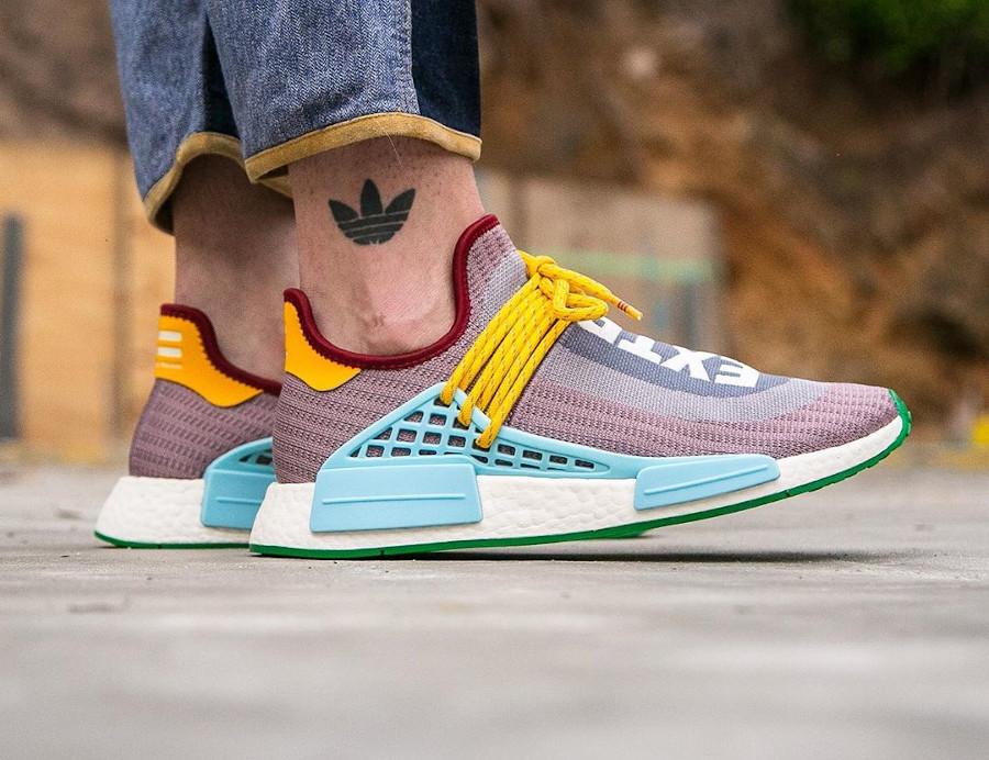 Adidas NMD Human Race 2020 gris violet bleu et jaune (3)