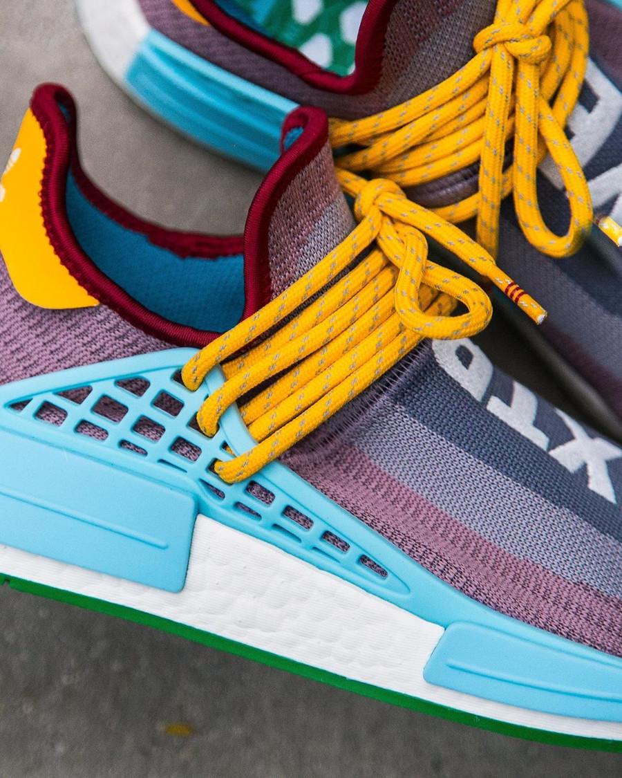 Adidas NMD Human Race 2020 gris violet bleu et jaune (4)