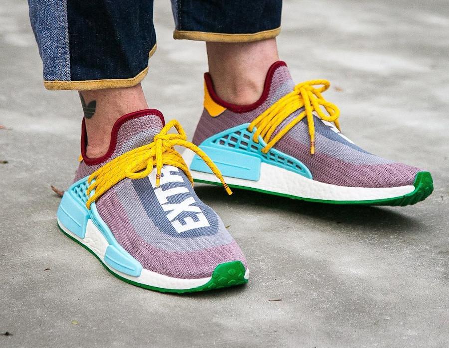 Adidas NMD Human Race 2020 gris violet bleu et jaune (5)