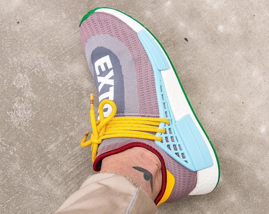 Adidas NMD Human Race 2020 gris violet bleu et jaune (6)