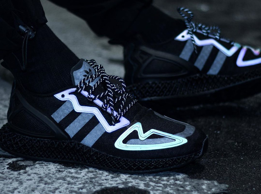 Adidas ZX 2K 4D Black Reflective Iridescent