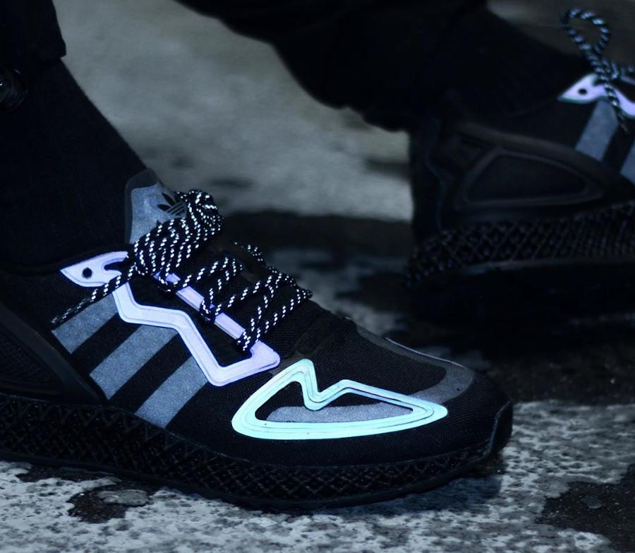 Adidas ZX 2K 4D noire et réfléchissante (1)