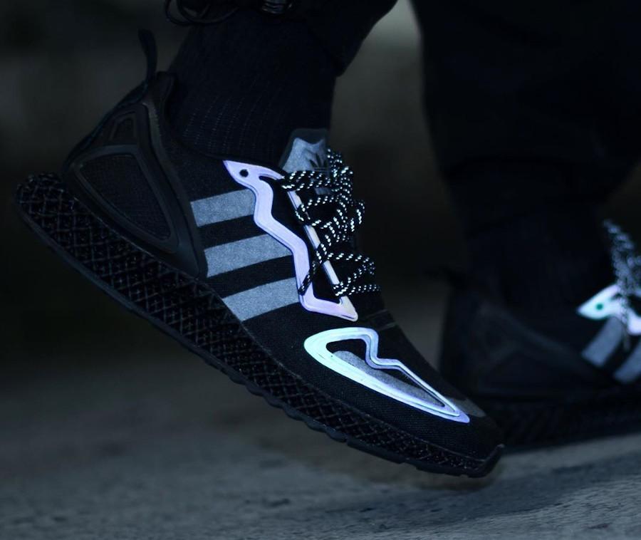 Adidas ZX 2K 4D noire et réfléchissante (2)