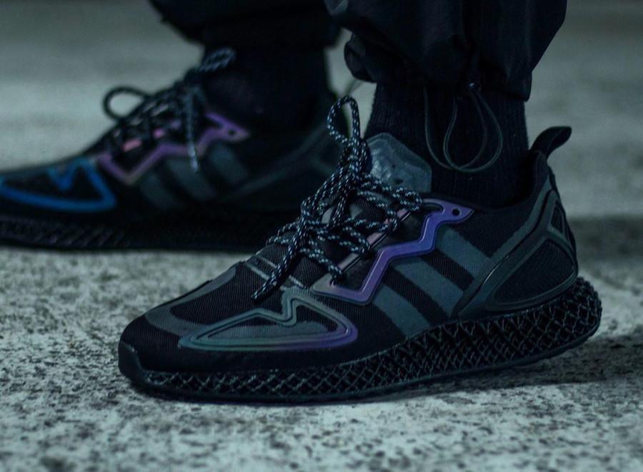 Adidas ZX 2K 4D noire et réfléchissante (3)
