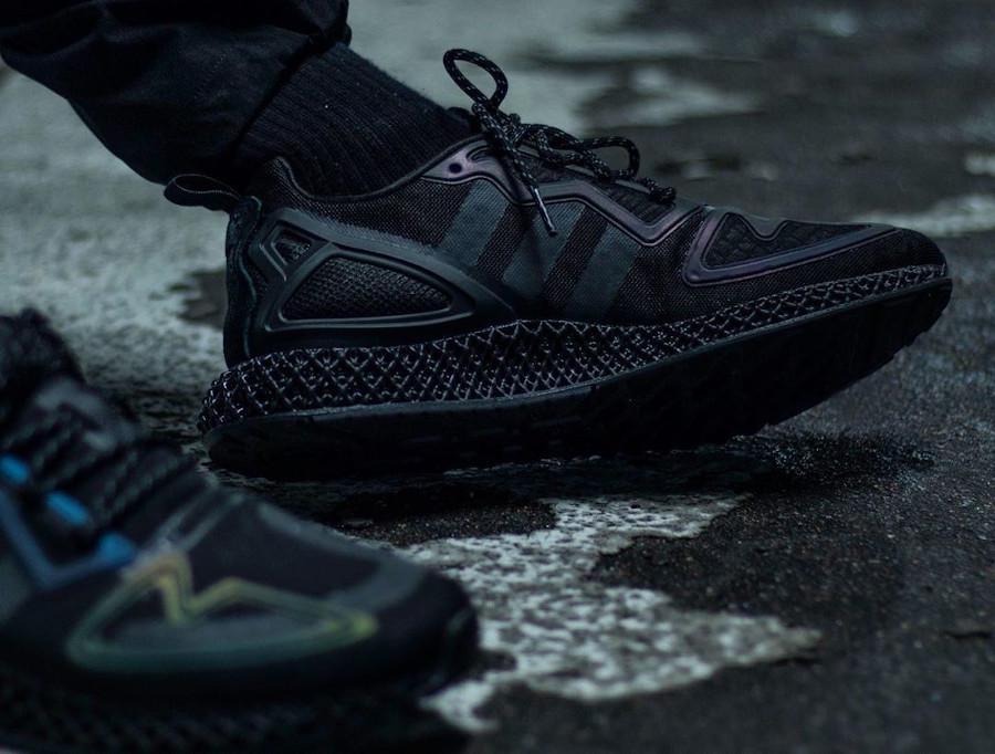Adidas ZX 2K 4D noire et réfléchissante (4)