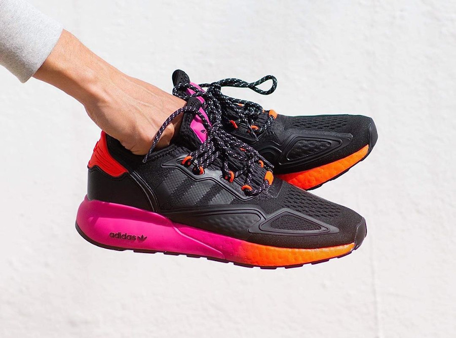 Adidas ZX 2K Boost noire rose et orange (1)