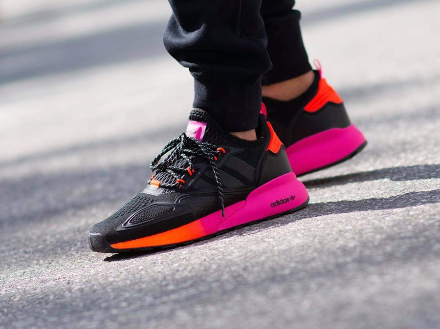 Adidas ZX 2K Boost noire rose et orange (2)