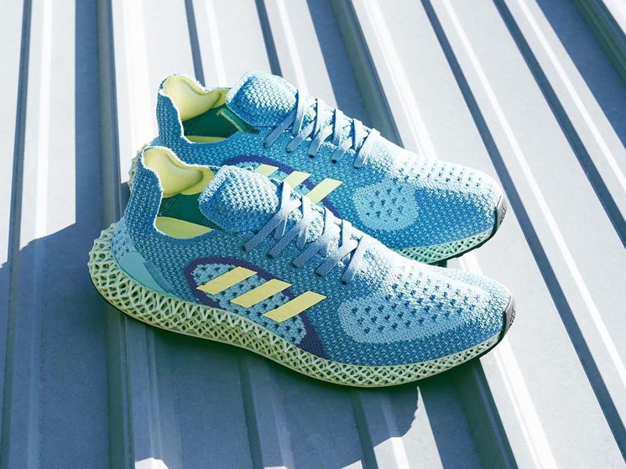 Adidas ZX 4D Runner bleu turquoise jaune et violet (2)