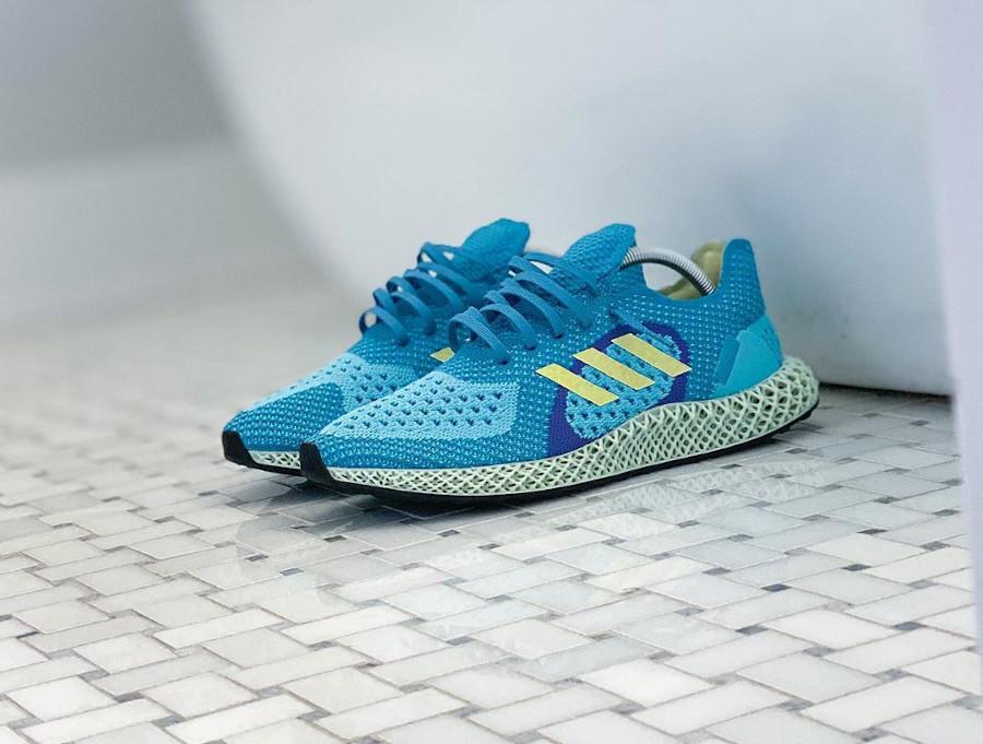 Adidas ZX 4D Runner bleu turquoise jaune et violet (3)