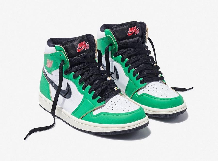 Air Jordan 1 High 2020 blanche et verte (1)