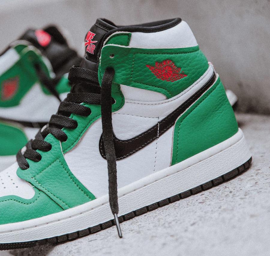 Air Jordan 1 High 2020 blanche et verte (2)
