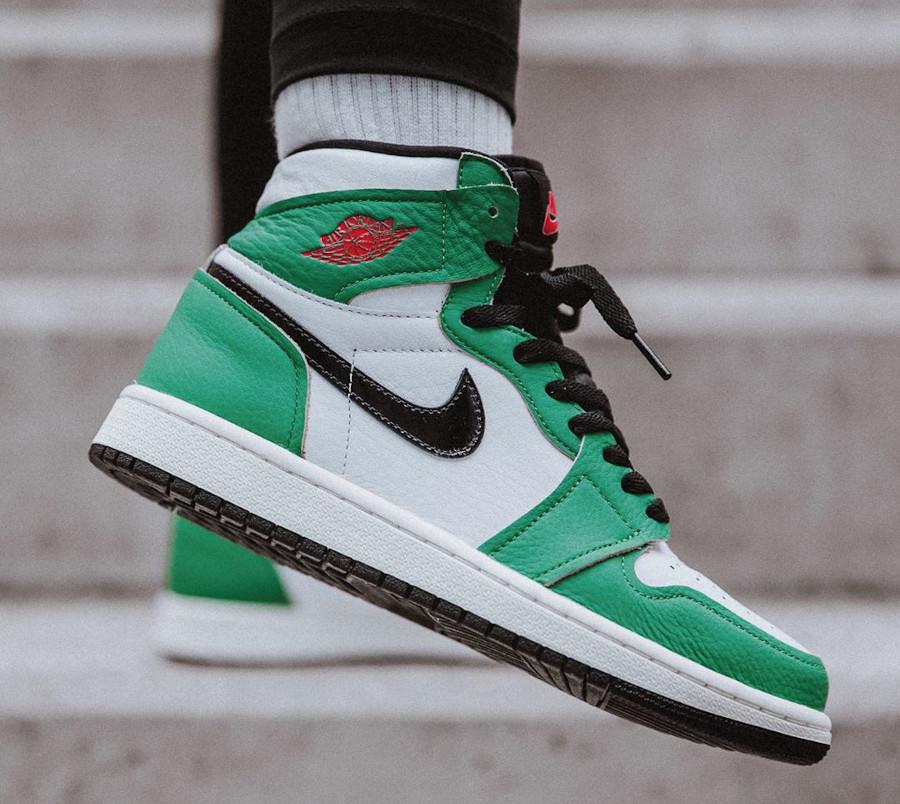 Air Jordan 1 High 2020 blanche et verte (3)