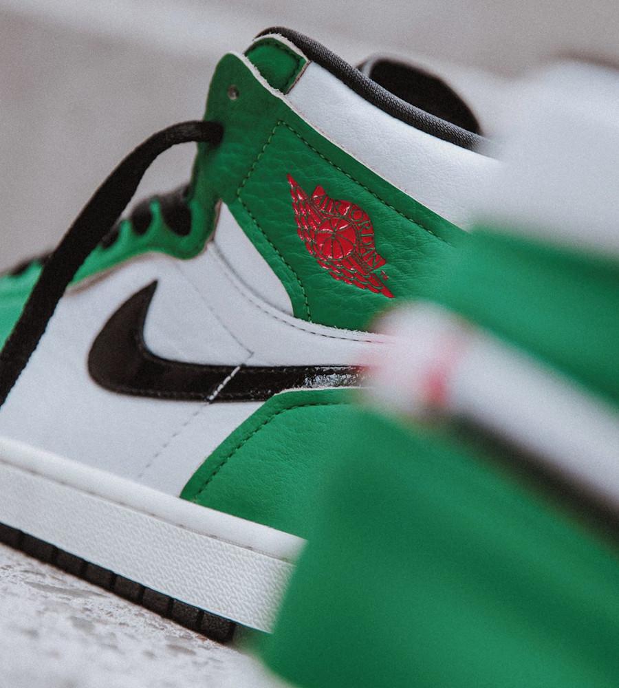 Air Jordan 1 High 2020 blanche et verte (4)