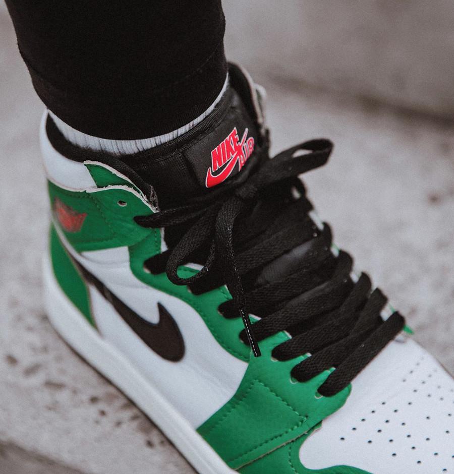Air Jordan 1 High 2020 blanche et verte (5)