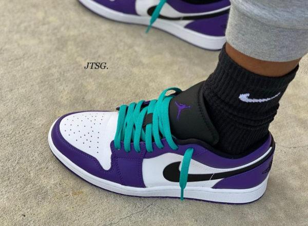 Air Jordan 1 Low AJ1 Court Purple White 553558-500
