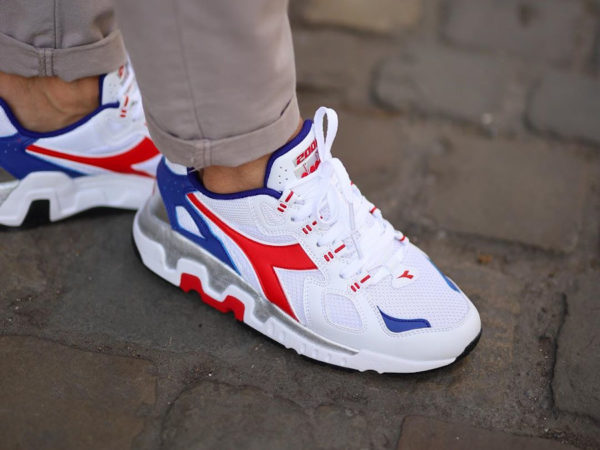 Diadora Mythos Suede White Red Blue 501 176566 C8850