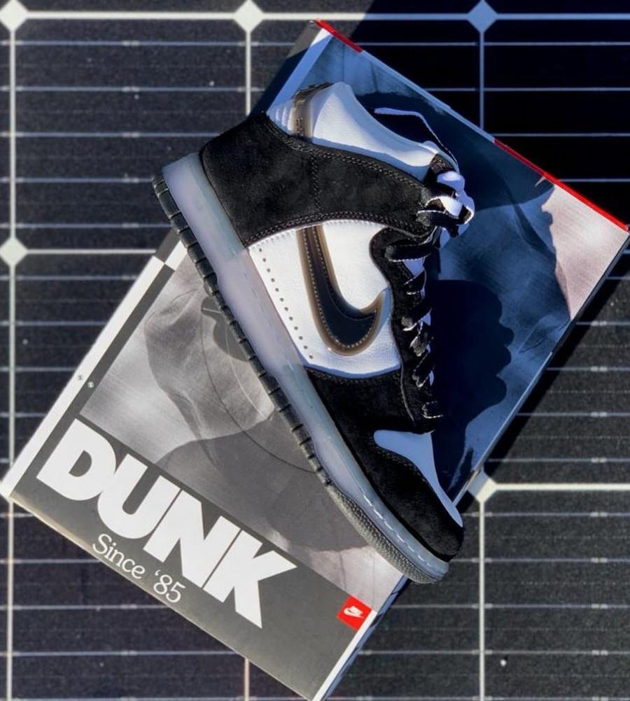 Luca Benini x Nike Dunk Hi en nubuck noir (3)