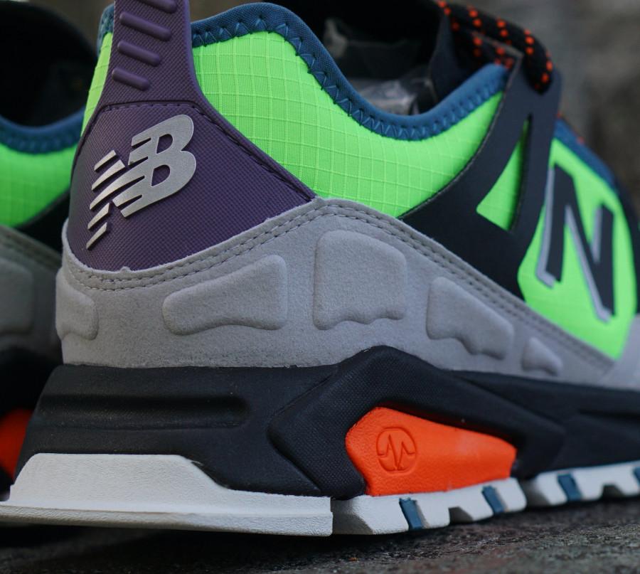 New Balance X-Racer All Terrain Trail vert fluo noir et grise (2)