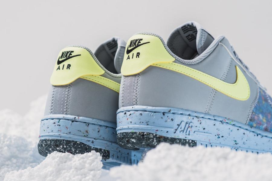 Nike AF-1 recyclée grise bleu et vert fluo (6)