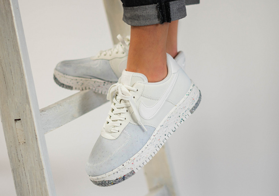 Nike Air Force 1 femme recyclée blanche (1)