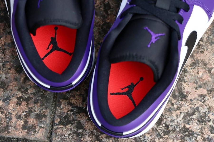 Nike Air Jordan 1 basse 2020 blanche noire et violet (1)