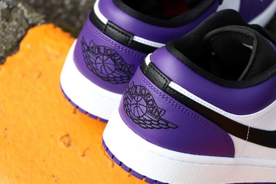 Nike Air Jordan 1 basse 2020 blanche noire et violet (3)
