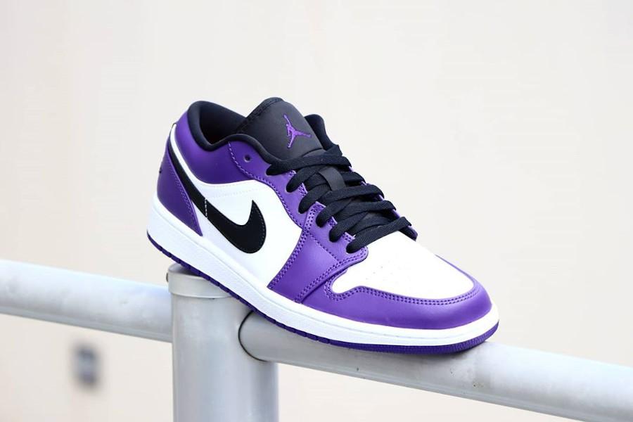 Nike Air Jordan 1 basse 2020 blanche noire et violet (6)