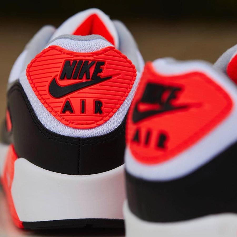 Nike Air Max 90 30th gris noir blanche et infrarouge (11)