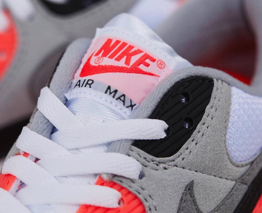 Nike Air Max 90 30th gris noir blanche et infrarouge (2)