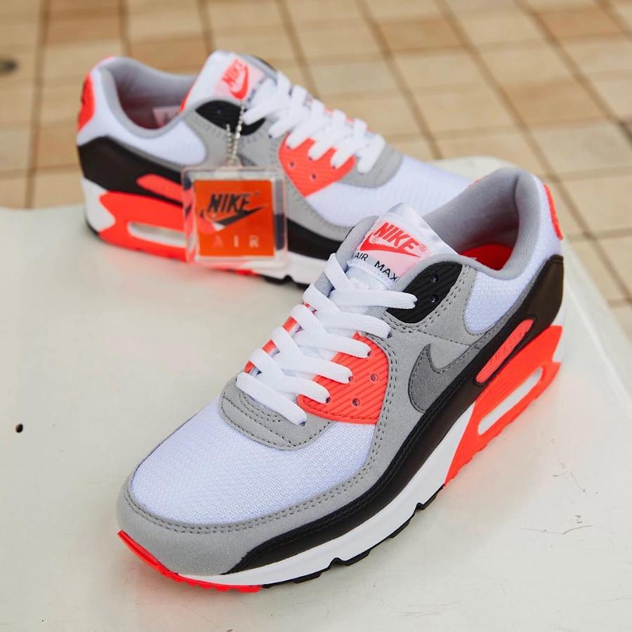 Nike Air Max 90 30th gris noir blanche et infrarouge (3)