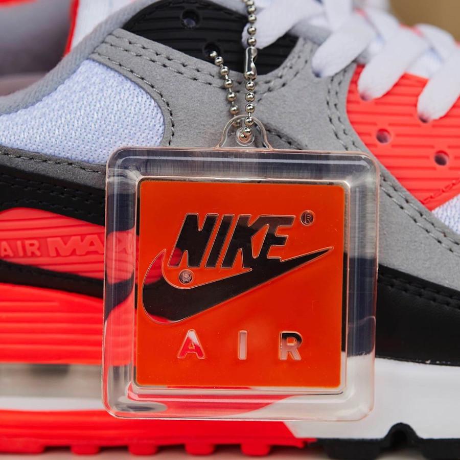 Nike Air Max 90 30th gris noir blanche et infrarouge (8)