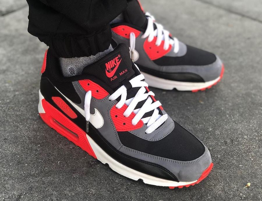 Nike Air Max 90 Essential Black Infrared - @maydjahlook