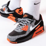 Nike Air Max 90 Premium Safari 2020 Black Safety Orange