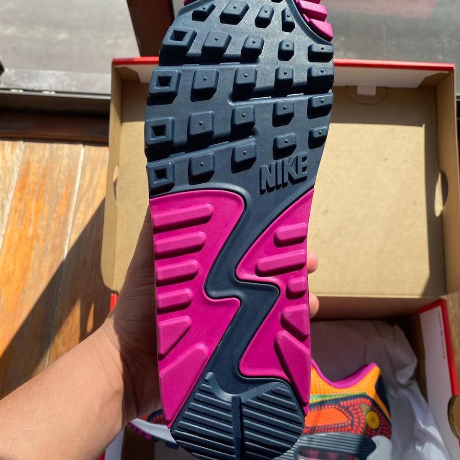 Nike Air Max 90 QS multicolore jour des morts (2)