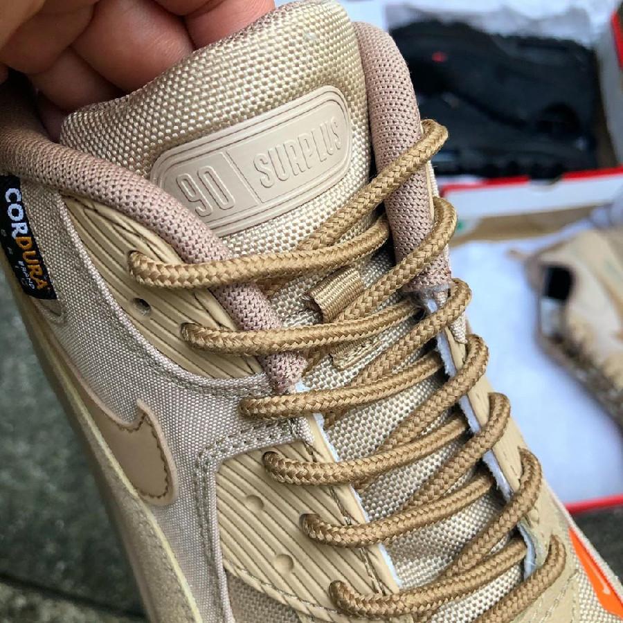 Nike Air Max 90 workwear beige et orange (3)