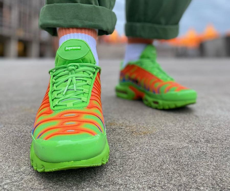 Nike Air Max Tuned 1 World Famous vert fluo et orange (4)