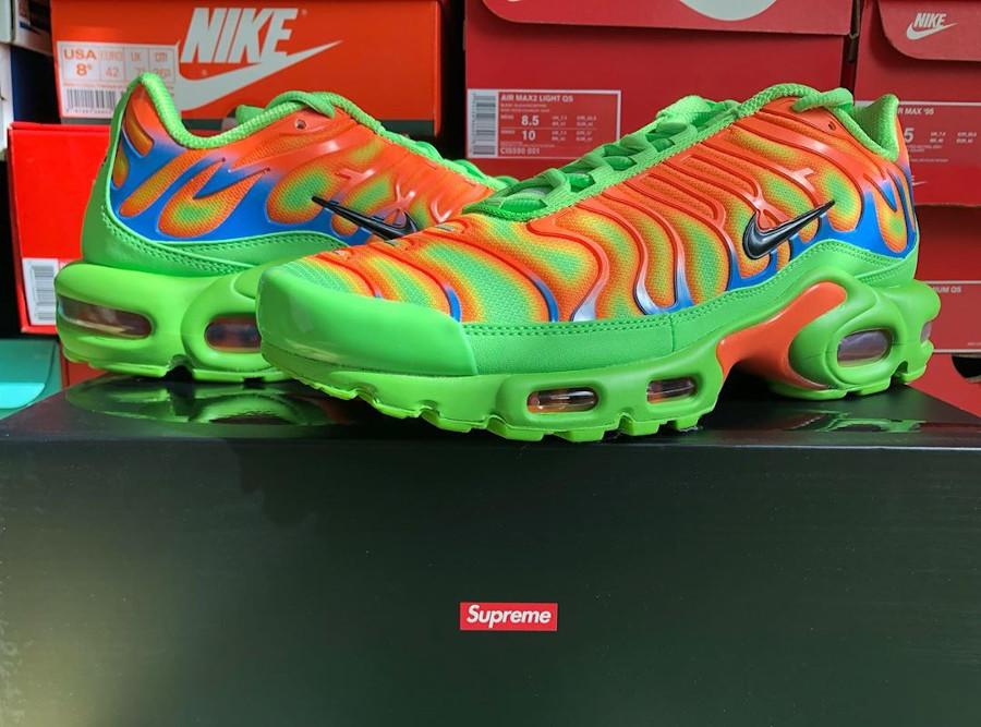 Nike Air Max Tuned 1 World Famous vert fluo et orange (6)