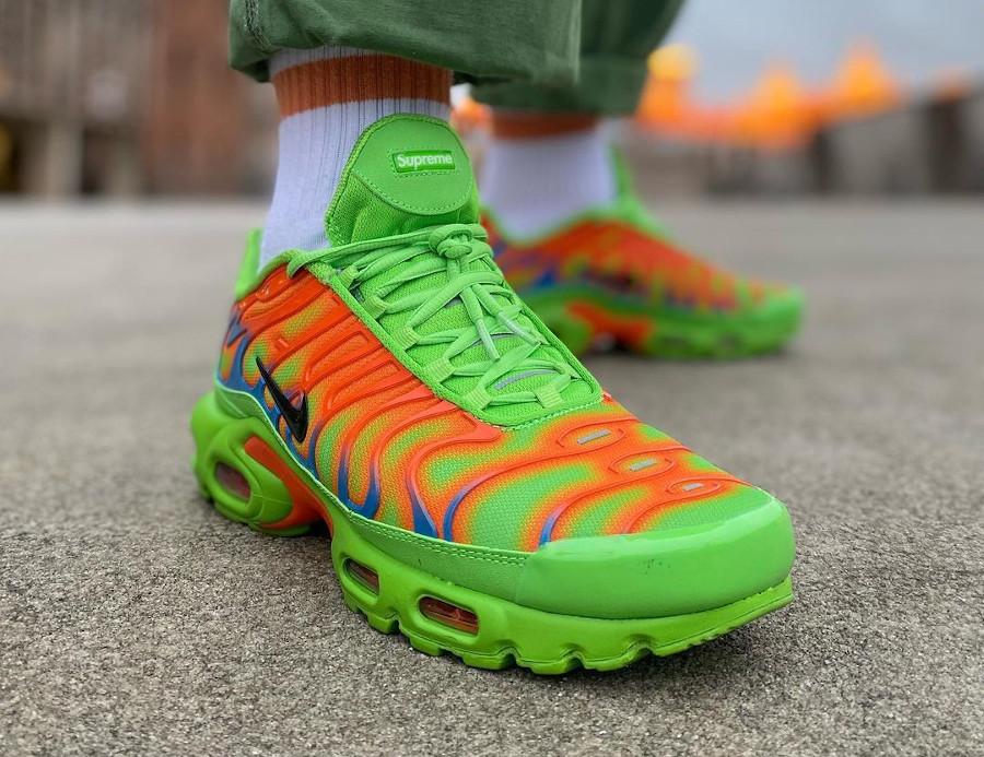 Nike Air Max Tuned 1 World Famous vert fluo et orange (7)