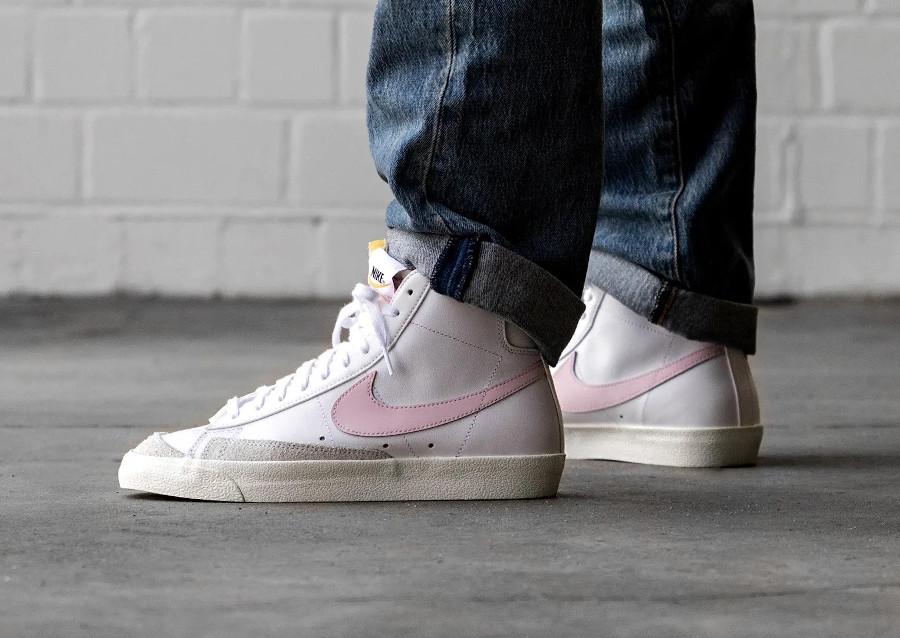 Nike Blazer Mid '77 Vintage White Pink Foam pas cher