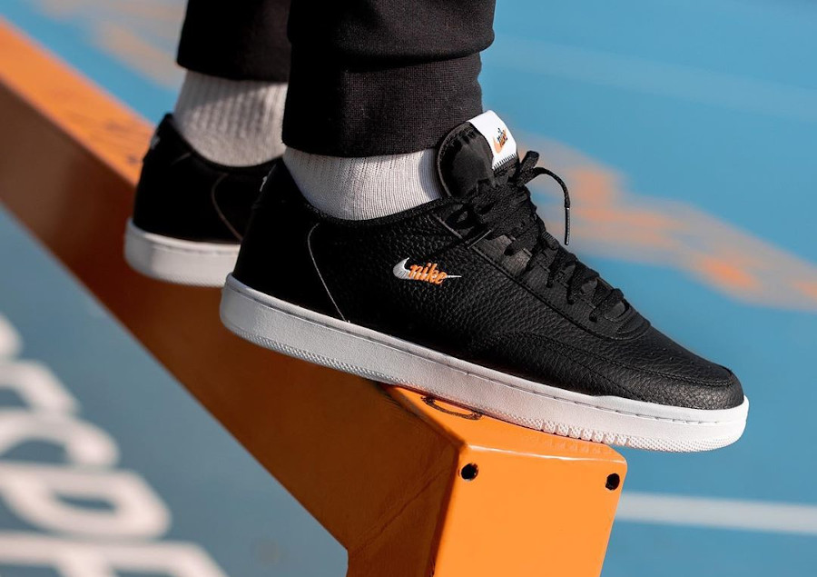 Nike Court Premium Vintage Black Total Orange pas cher