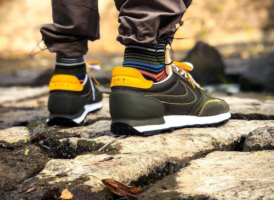 Nike DBreak Type N.354 vert olive et jaune doré (1)