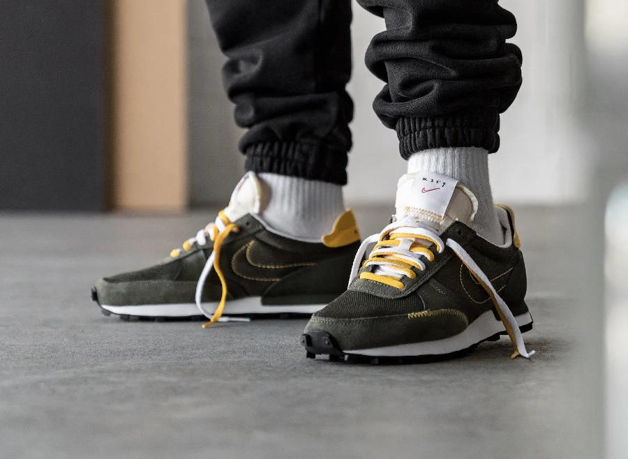 Nike DBreak Type N.354 vert olive et jaune doré (5)