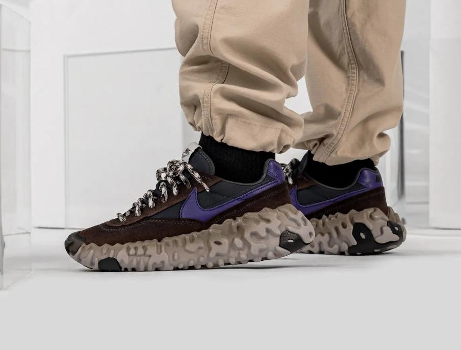Nike Daybreak Over React marron noir et violet (2)