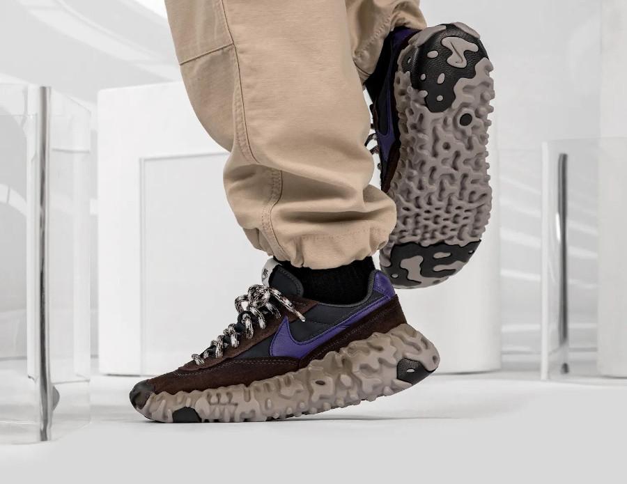 Nike Daybreak Over React marron noir et violet (3)
