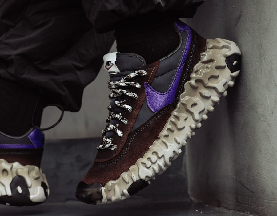 Nike Daybreak Over React marron noir et violet (4)
