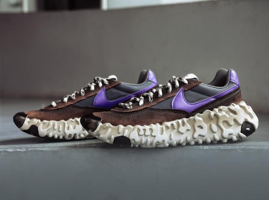 Nike Daybreak Over React marron noir et violet (5)