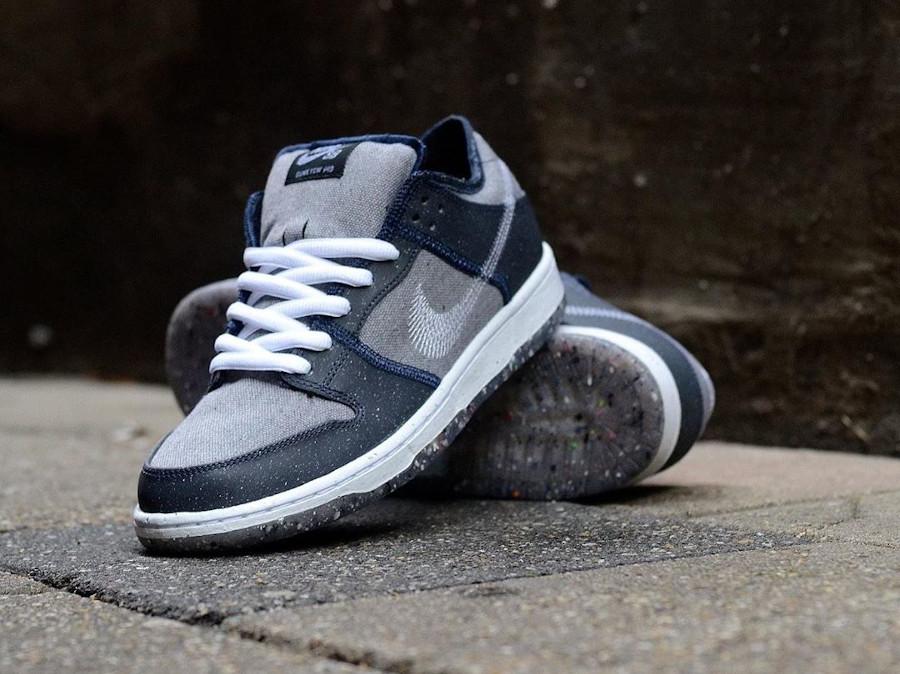 Nike Dunk Low 2020 recyclée grise et bleue (1)