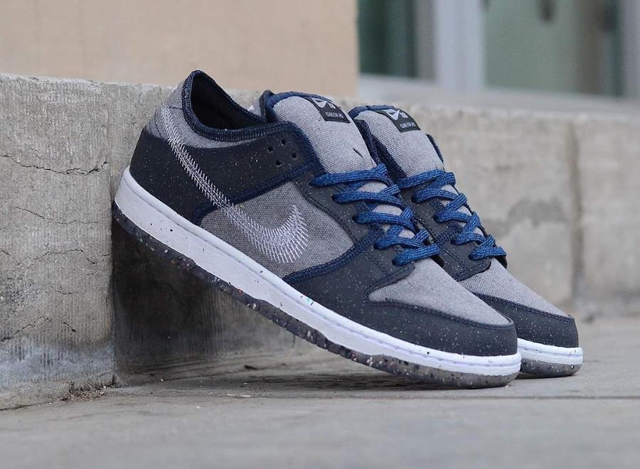 Nike Dunk Low 2020 recyclée grise et bleue (2)